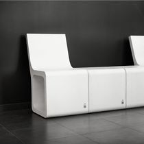 Contemporary chair / concrete / modular / for public buildings