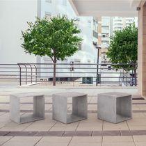 Contemporary stool / concrete / commercial / garden