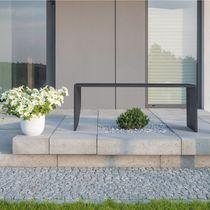 Public bench / contemporary / concrete / handmade
