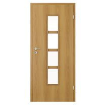 Indoor door / swing / MDF / melamine