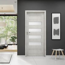Indoor door / swing / MDF / glazed