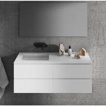 Wall-mounted washbasin cabinet / MDF / Corian® / contemporary