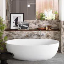 Free-standing bathtub / oval / Corian®