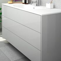 Wall-hung washbasin cabinet / MDF / contemporary / with drawers