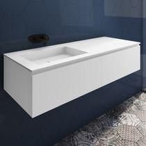 Wall-hung washbasin cabinet / MDF / Corian® / contemporary