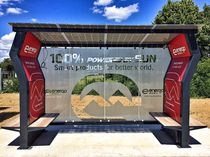 Metal bus shelter