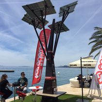 Mobile phone charging station / solar / Wi-Fi