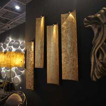 Contemporary wall light / fiberglass / LED / golden