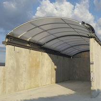 Aluminum roofing / polycarbonate / sliding / retractable