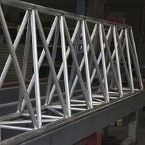 Prefab beam / aluminum / rectangular / lattice