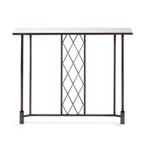 Traditional sideboard table / glass / iron / wrought iron