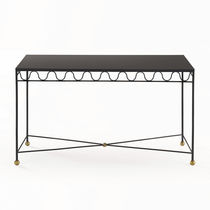 Sideboard table / traditional / glass / brass