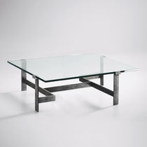 Coffee table / traditional / glass / iron