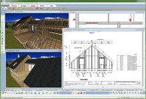 Computer-aided engineering software / for wooden structures / 2D