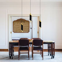 Pendant lamp / contemporary / brass