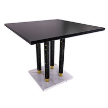 Contemporary table / marble / square / contract