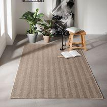 Woven rug / contemporary / striped / rectangular