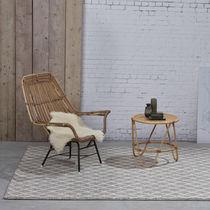 Contemporary rug / geometric pattern / wool / viscose