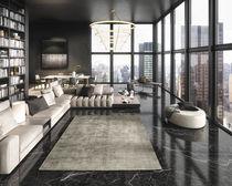 Contemporary rug / plain / viscose / rectangular