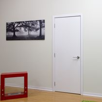 Laminated door / indoor / swing / solid wood