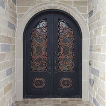 Arched door / entry / swing / wrought iron