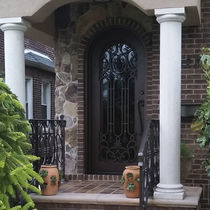 Entry door / swing / wrought iron / glazed