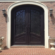 Entry door / swing / wrought iron / security