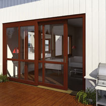 Sliding patio door / PVC / double-glazed / thermally-insulated