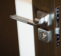 Door handle / contemporary / with lock