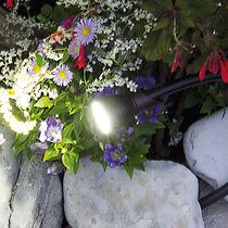 Garden bollard light / contemporary / aluminum / tempered glass facing