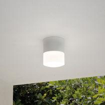 Contemporary ceiling light / round / aluminum / PMMA