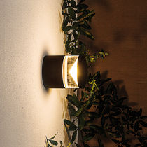 Contemporary wall light / outdoor / PMMA / painted aluminum