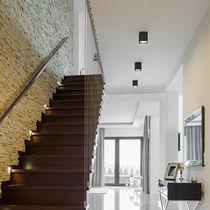 Contemporary ceiling light / linear / square / rectangular