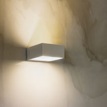 Contemporary wall light / outdoor / painted aluminum / PMMA
