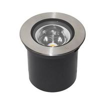 Recessed floor light fixture / LED / round / outdoor