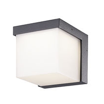 Contemporary wall light / outdoor / cast aluminum / polycarbonate