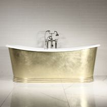 Free-standing bathtub / oval / round / cast iron