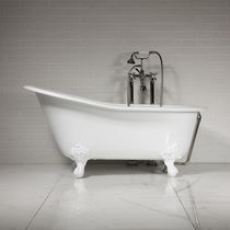 Bathtub with legs / oval / round / cast iron