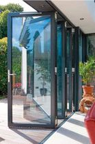 Sliding and stacking patio door / aluminum / double-glazed