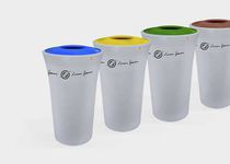 Public trash can / polyethylene / contemporary / recycling
