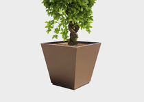 Steel planter / conical / contemporary / for public areas