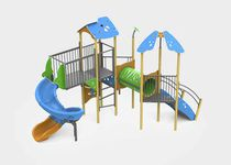 Plastic play structure / galvanized steel / aluminum / for playgrounds