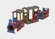 Plastic play structure / wooden / stainless steel / for playgrounds