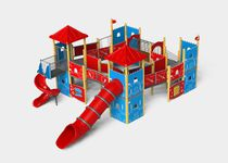 Plastic play structure / stainless steel / aluminum / for playgrounds