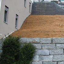Steel retaining wall / reinforced earth / for garden enclosures