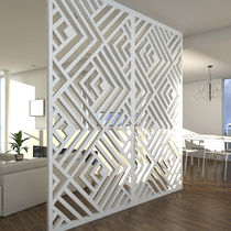 Wood decorative panel / MDF / composite / stainless steel