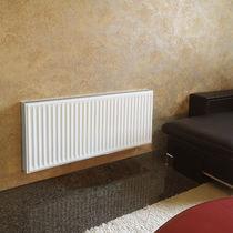 Hot water radiator / steel / contemporary / rectangular
