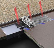Electric convector / hot water / metal / contemporary