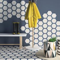 Indoor encaustic cement tile / floor / wall / geometric pattern