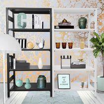 Contemporary shelf / metal / commercial